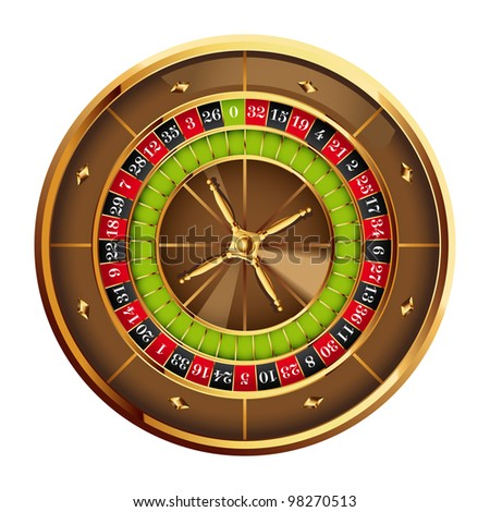detailed casino roulette wheel.