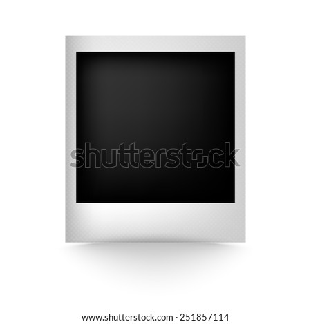 detailed illustration of a retro photo frame - stock photo