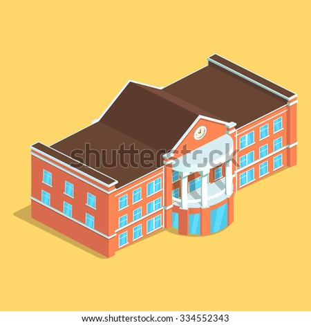 Detailed illustration of an Isometric European isolated Building. Illustration of isometric House , Detailed Clip Art.
