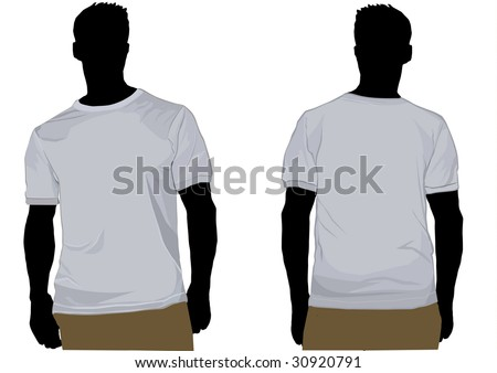 Detailed illustration of shaded t shirt on man