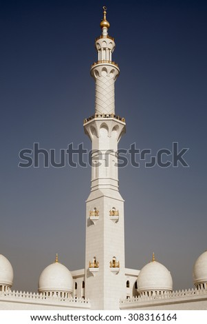 Detailed lacing design of a minaret - stock photo