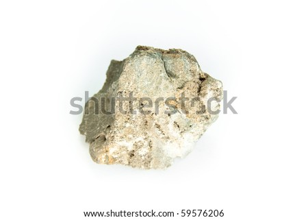 detailed macro shot of sphalerite isolated on white