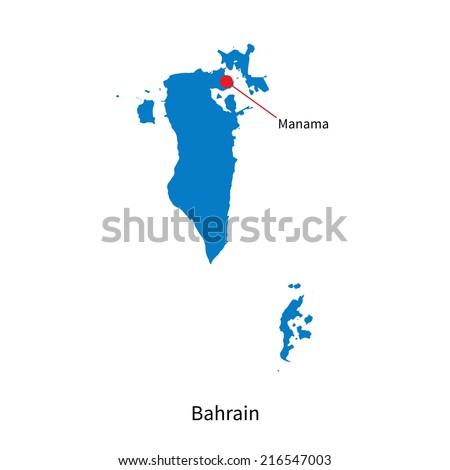 Detailed map of Bahrain and capital city Manama