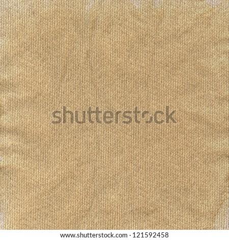 Detailed natural light linen texture closeup, vintage textured fabric - stock photo