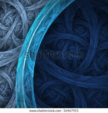Detailed, navy, blue and silver / gray abstract woven background - stock photo