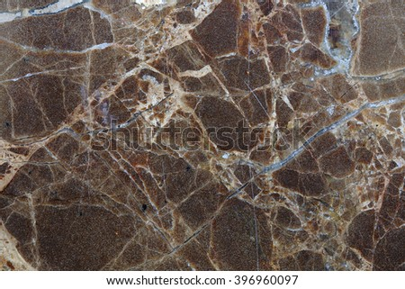Detailed of dark brown marble pattern for background