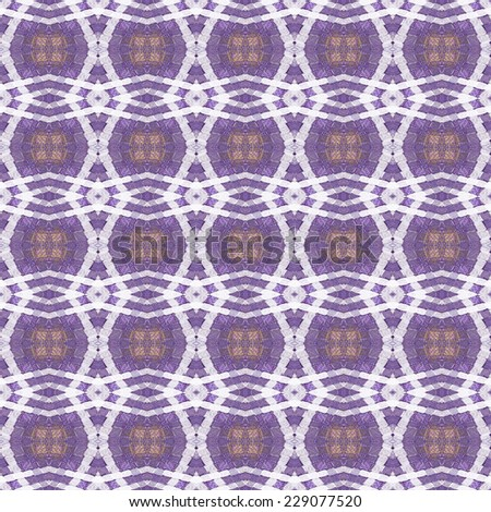 Detailed peach and purple abstract diamond pattern on black background (tile able)  - stock photo