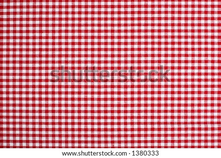 Detailed red picnic cloth - The tablecloth is new, clean and flat without creases - stock photo