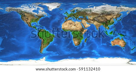 Detailed satellite view earth landforms global stock illustration detailed satellite view of the earth and its landforms global world map elements of gumiabroncs Images