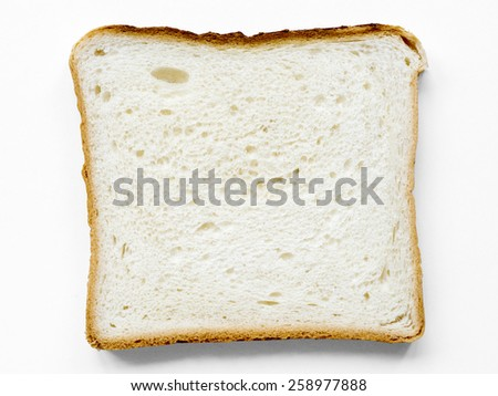 detailed slice of toast bread isolated on white