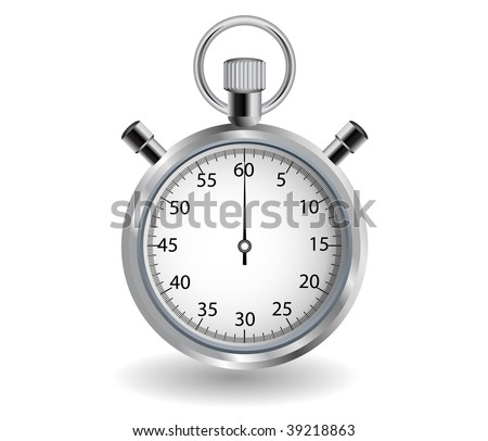Detailed stop watch, can be used as an icon. - stock photo