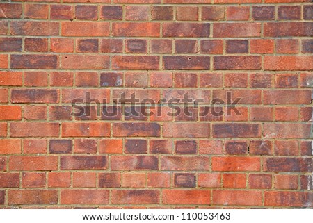Detailed texture of brick wall facade surface