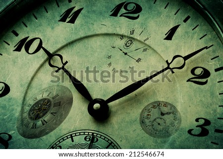 Detailed texture of clock watch time measurement of passing  - stock photo