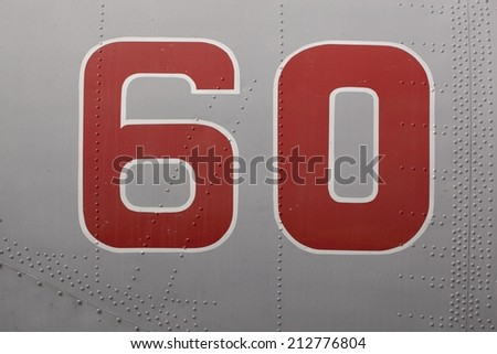 Detailed texture of fighter body. - stock photo