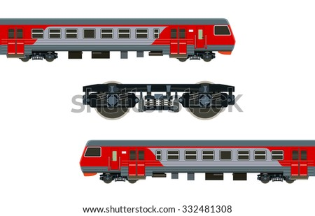 Detailed train on a white background