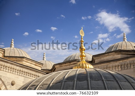 Detailed view of an Istanbul Mosque.