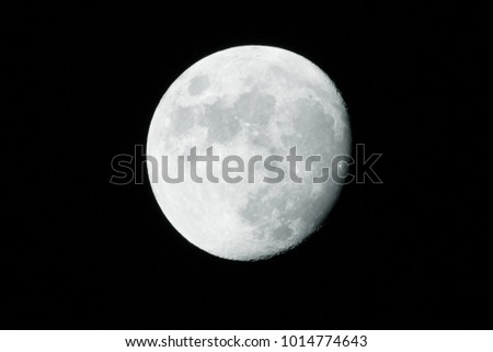 Detailed view of the Moon, Full Moon, Close up Moon in the dark sky