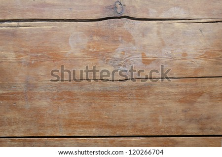detailed wooden background of vintage table top - stock photo