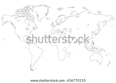 Detailed world map high resolution stock illustration 636770110 detailed world map in high resolution gumiabroncs Image collections