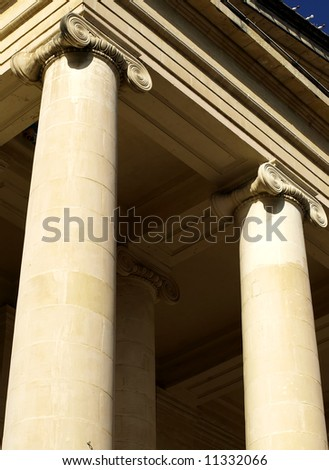 Details and pillars from the Malta public court house