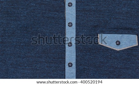 Details blue shirt - stock photo