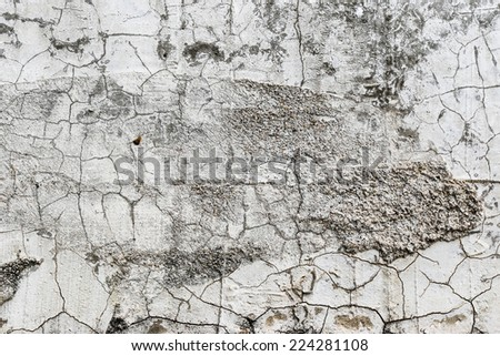 Details cement wall
