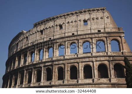 Details Colosseum Rome Italy Built by Vespacian