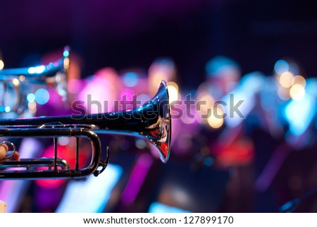 Details from a showband - stock photo