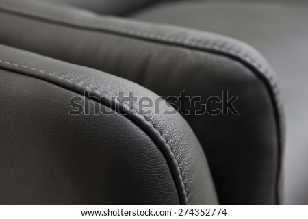 details - leather furniture - stock photo