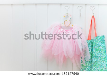 Details of a beautifully decorated little girl room - stock photo