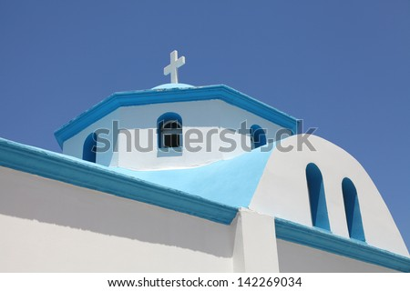 details of a greek church - stock photo