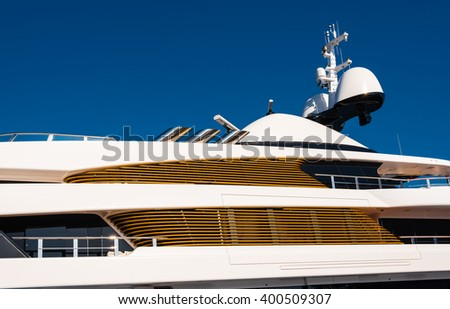 details of a luxury yacht