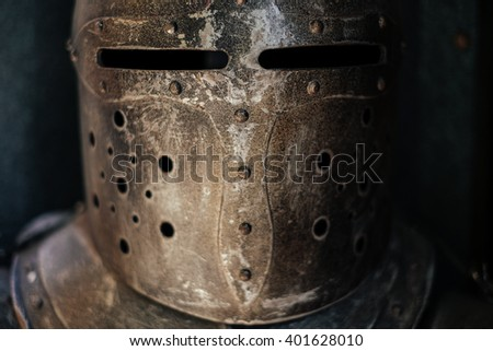 details of a medieval knight armor