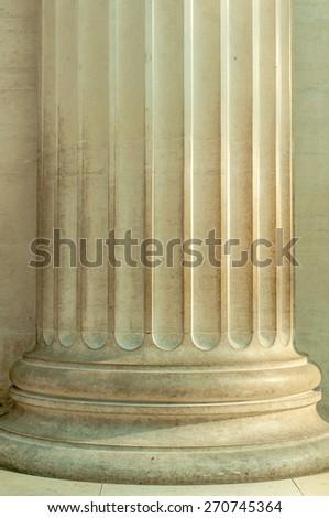 Details of a pillar - stock photo