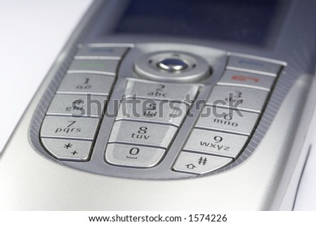 details of a smartphone - stock photo