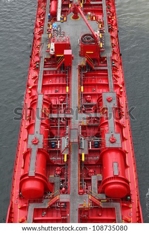 details of a tanker - stock photo