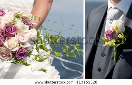 Details of a wedding - stock photo