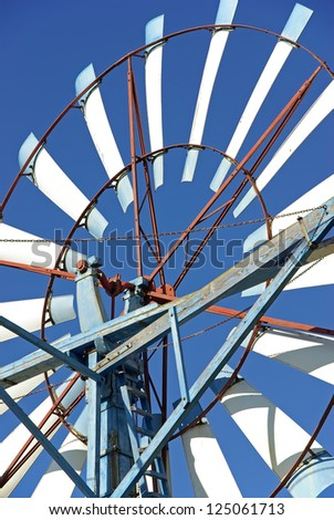 details of a windmill in majorca (Spain)
