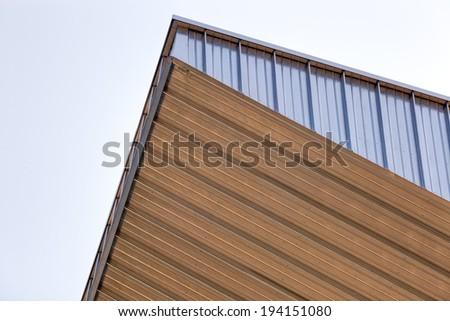 Details of aluminum facade and aluminum panels - stock photo
