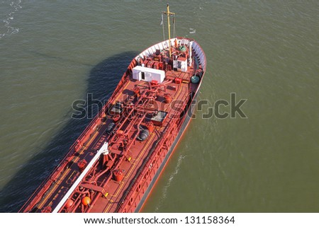 details of an oil tanker - stock photo