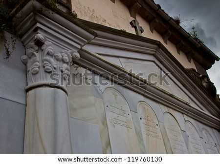 details of an old cemetery in Asturias, Spain