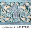 Details of antique wall decoration - contemporary replica - stock photo
