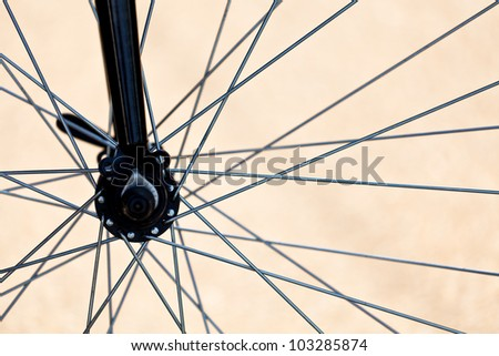 Details of bicycle wheel - stock photo