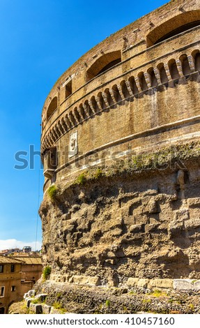 Details of Castel Sant'Angelo in Rome, Italy - stock photo