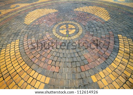 Details Circle Design Stone Floor Tiles Stock Photo (Royalty Free ...