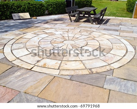 Details Circle Design Stone Floor Tiles Stock Photo Edit Now