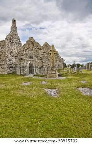 Details of Clonmacnoise in Ireland.