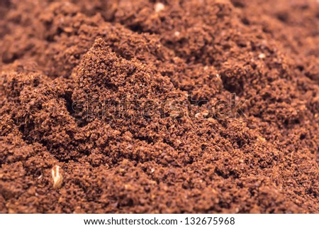 Details Of Coffee Powder Pile