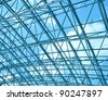 details of contemporary transparent ceiling - stock photo