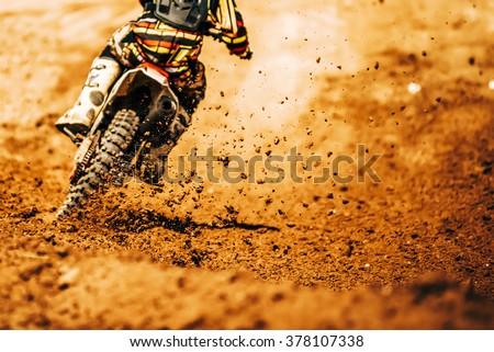 Details of debris in a motocross race - stock photo